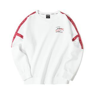 特步 专柜款 女子卫衣 时尚侧边条纹套头衫981328920235