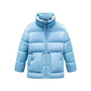 特步 女子羽绒服 19冬季新款保暖舒适口袋纯色外套881428199149