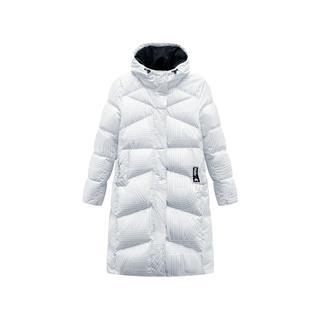 特步 女子羽绒服 景甜同款连帽拉链长款保暖外套881428199168