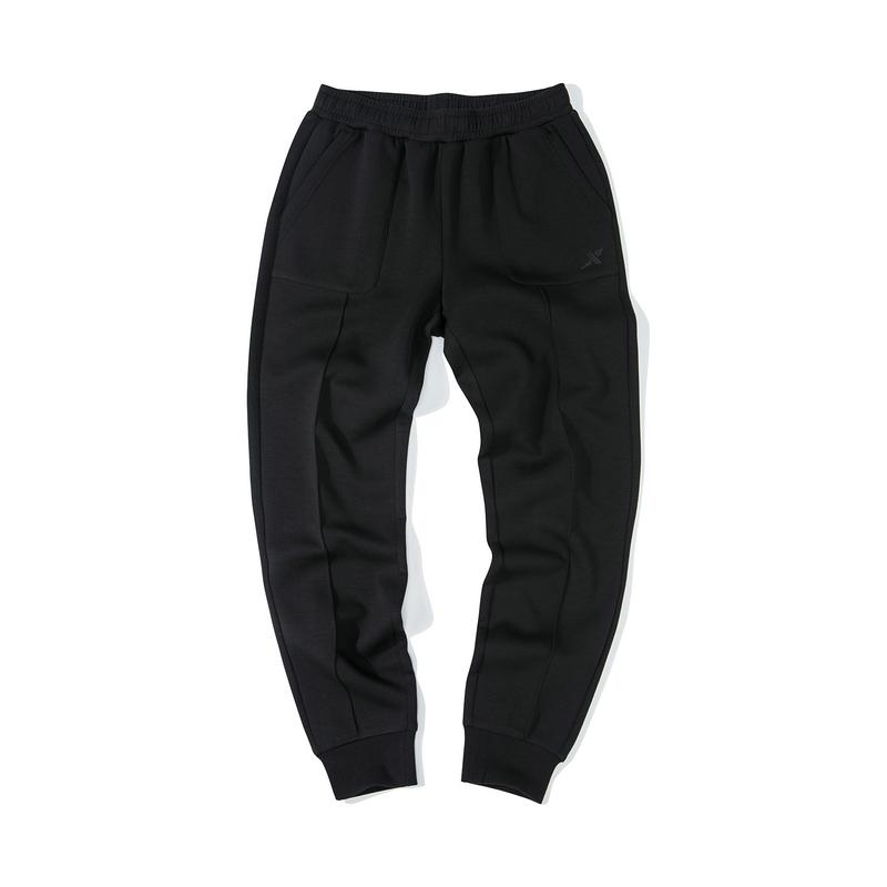 特步 女子针织长裤 19新款修身口袋休闲收脚裤881428639069