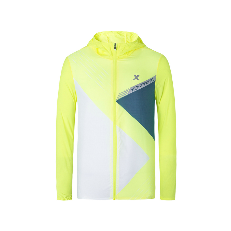 特步 专柜款 男子秋季风衣马拉松轻便可折叠跑步单风衣981329140486