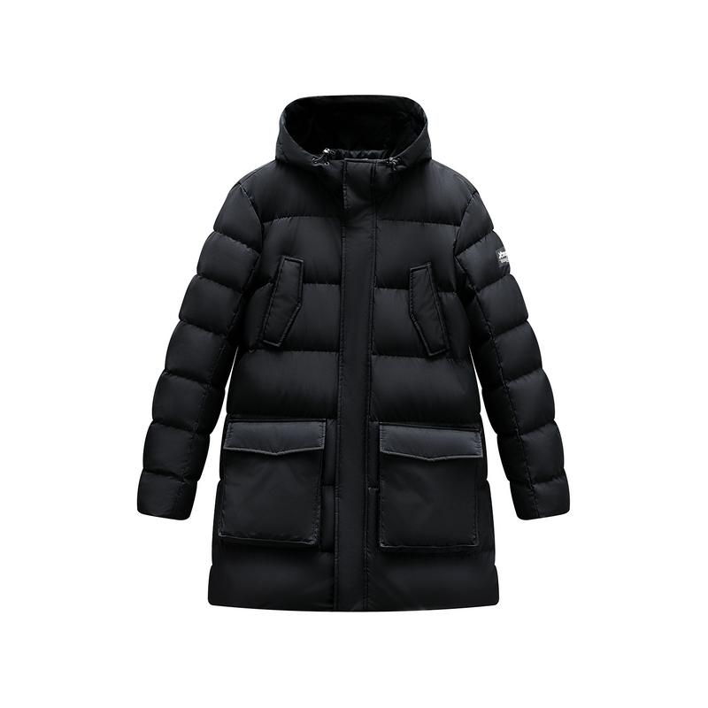 特步 男子羽绒服 2019冬季羽绒服男中长款男士保暖外套加厚防风881429199072