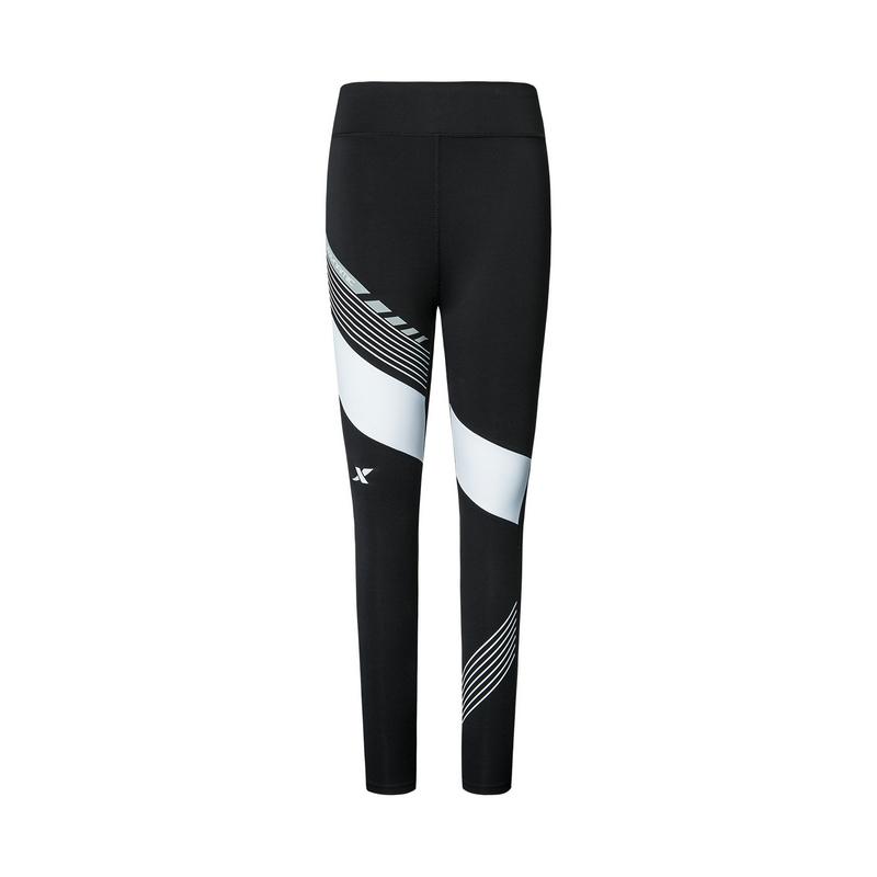 特步 专柜款 女子紧身裤 2019秋季运动时尚休闲跑步运动紧身裤981328580174