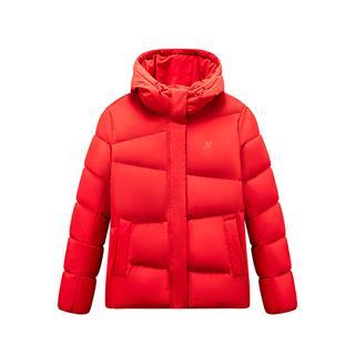 特步 女子羽绒服 19冬季新款保暖连帽纯色外套881428199199