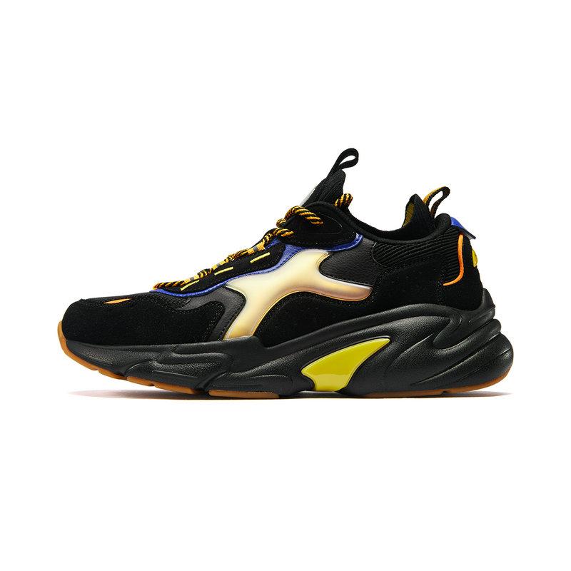 【DC蝙蝠侠联名款】特步 男子休闲鞋 老爹鞋2019新款蝙蝠侠联名袜套跑鞋881419329603