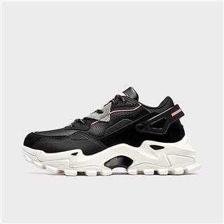 【黑曜系列-赤岩】特步 专柜款 女子休闲鞋 19冬季新款厚底增高老爹鞋981418392991