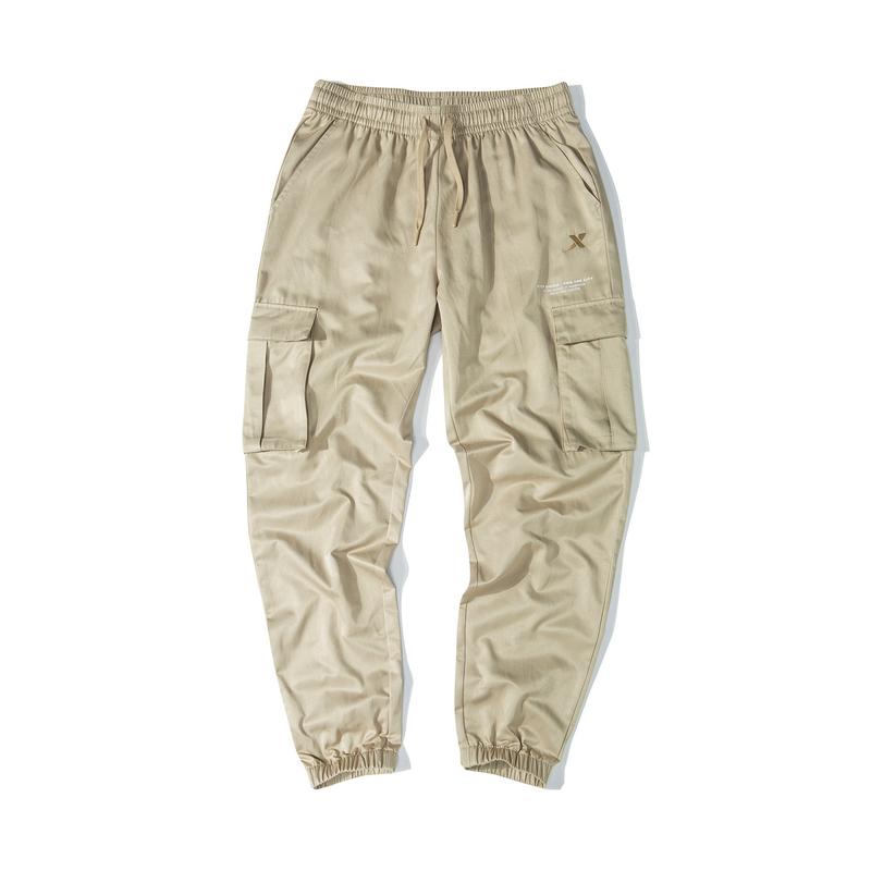 【这就是街舞】特步 女子梭织单裤 19新款时尚潮流口袋工装裤881328499352