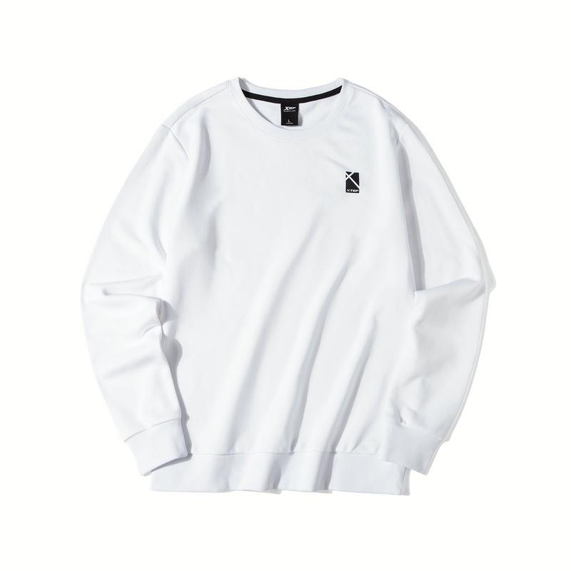 特步 男子卫衣 19新款圆领宽松潮流运动套头衫881329059281