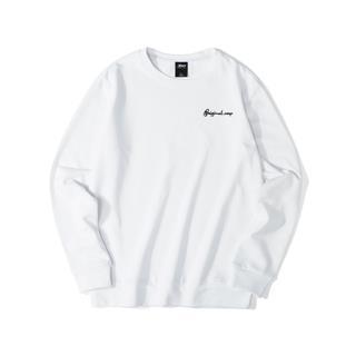 特步 男子卫衣 简约纯色小字母绣花套头衫881329059368