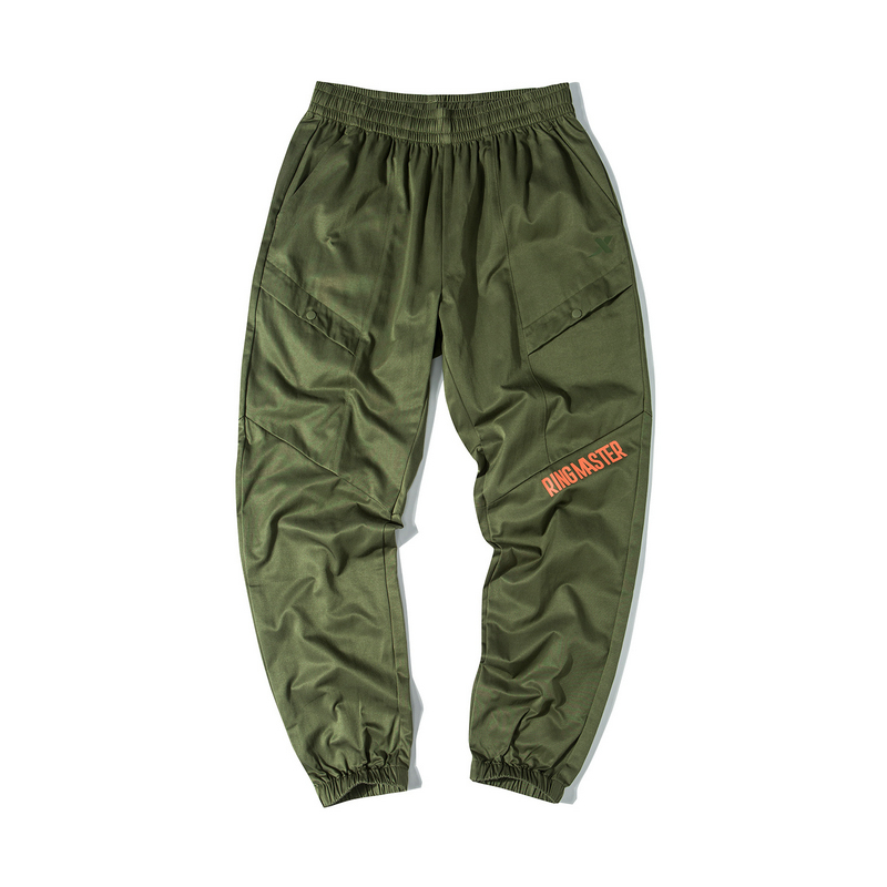 特步 男子梭织单裤 19新款街头潮流运动收脚工装裤881329499343