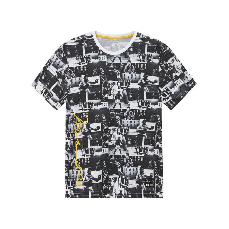 【阿里系列】特步 专柜款 男子短袖针织衫 2019新款阿里系列圆领休闲T恤981329010032