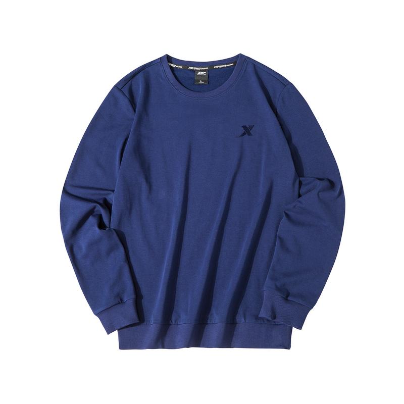 【常规款】特步 男子卫衣 简约百搭圆领套头衫881329059403