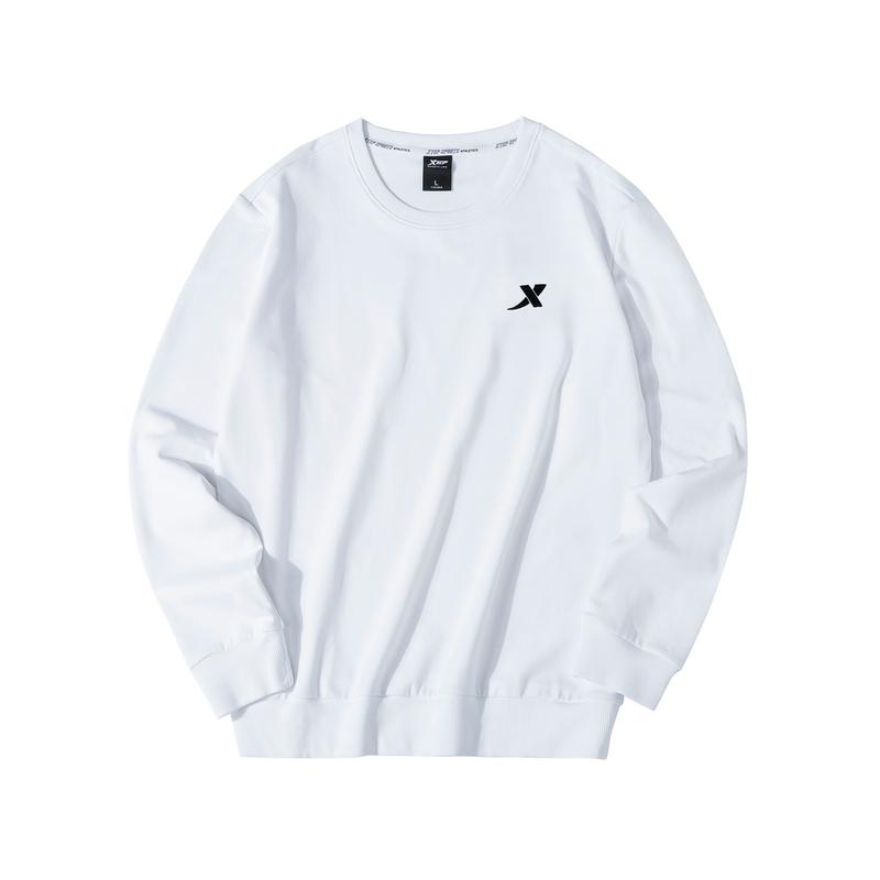 特步 男子卫衣 19新款简约百搭圆领套头衫881329059403