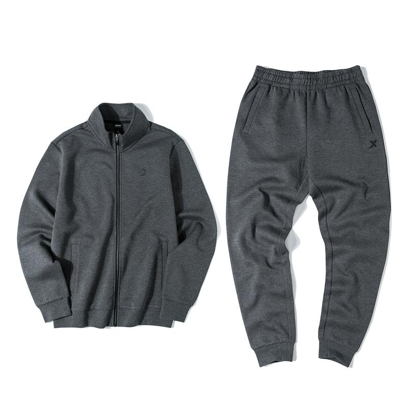 【常规款】特步 男子针织套装 19新款拉链外套长裤运动两件套881329969367