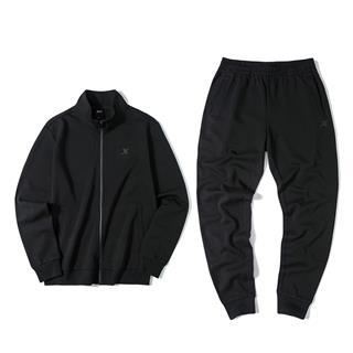 【常规款】特步 男子针织套装 拉链外套长裤运动两件套881329969367