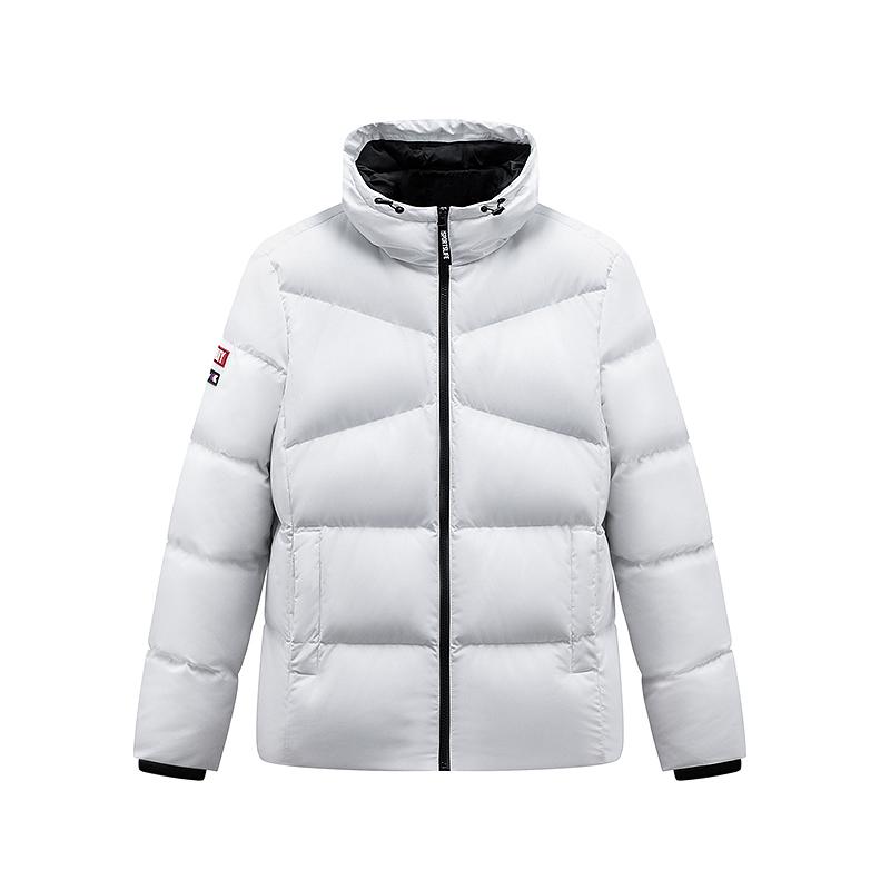 特步 男子羽绒服 19冬季新款连帽短款加厚保暖外套881429199154