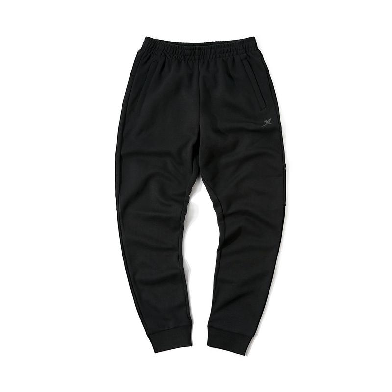 特步 专柜款 男子冬季运动综训舒适透气收口针织长裤981429630198