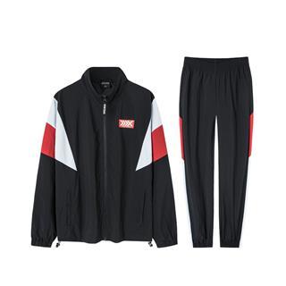 特步 男子梭织套装 外套收口小脚裤运动两件套881329A69389