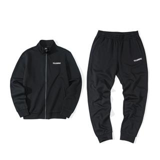 特步 男子针织套装 拉链外套运动长裤两件套881329969283