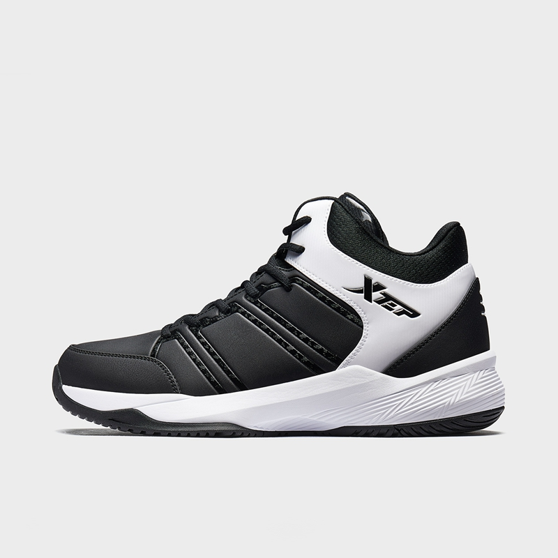 特步 男子篮球鞋 19新款革面潮流街头高帮运动鞋881419129682