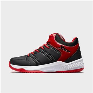 特步 男子篮球鞋 革面潮流街头高帮运动鞋881419129682