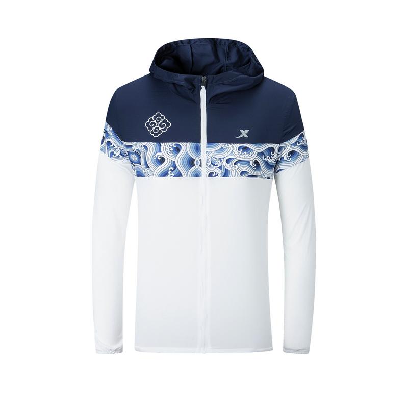 特步 专柜款 女子单风衣 南京马拉松纪念款跑步外套981328140554