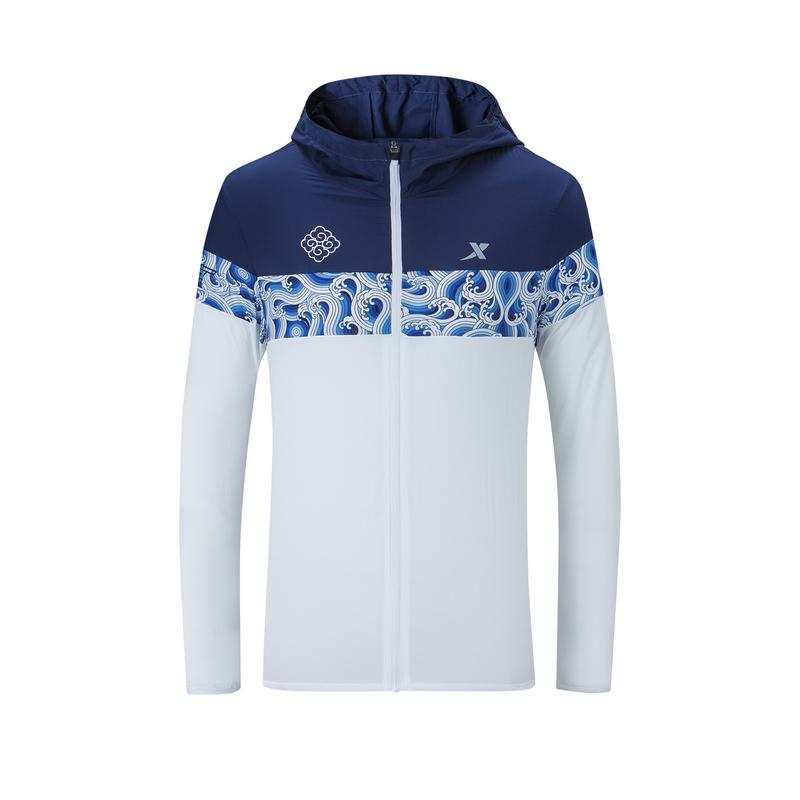 特步 专柜款 男子单风衣 南京马拉松纪念款跑步外套981329140582