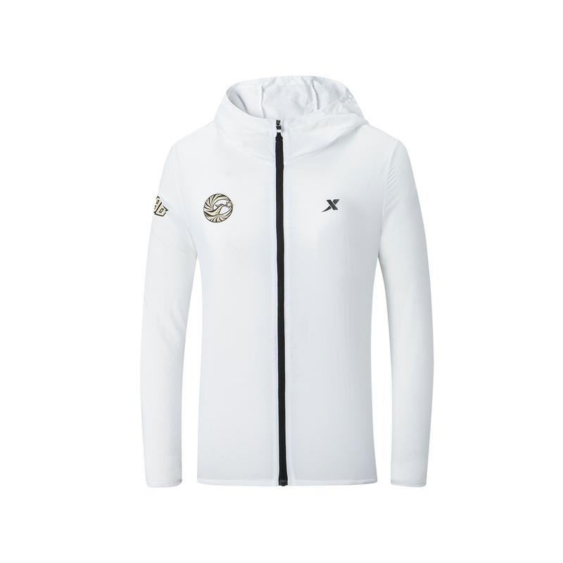 特步 专柜款 女子单风衣 沈阳马拉松纪念款可折叠外套981328140566
