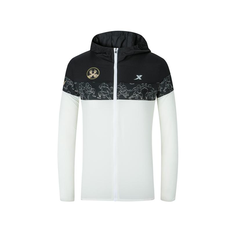 特步 专柜款 女子单风衣 郑州马拉松纪念款可折叠外套981328140571