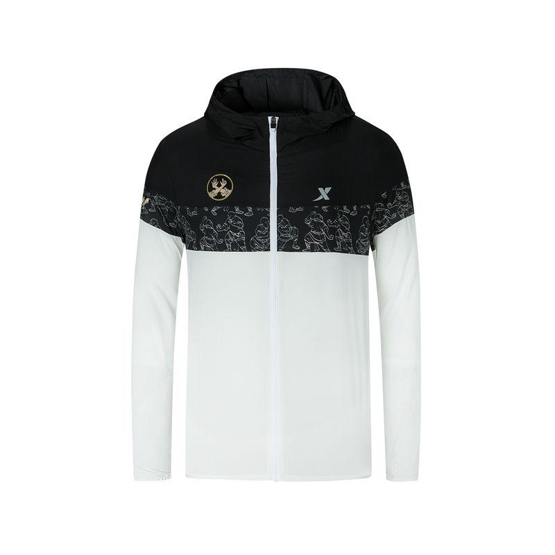 特步 专柜款 男子单风衣 郑州马拉松纪念款可折叠外套981329140599
