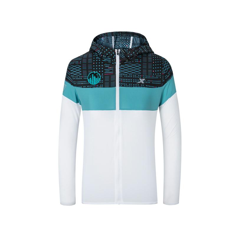 特步 专柜款 女子单风衣 深圳马拉松纪念款可折叠外套981328140557