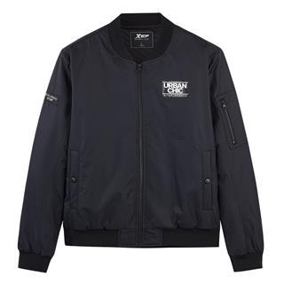 特步 男子棉服 冬季新款保暖棒球领休闲夹克外套882429449205