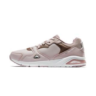特步 专柜款 女子休闲鞋革面运动鞋女轻便跑步鞋981318320022