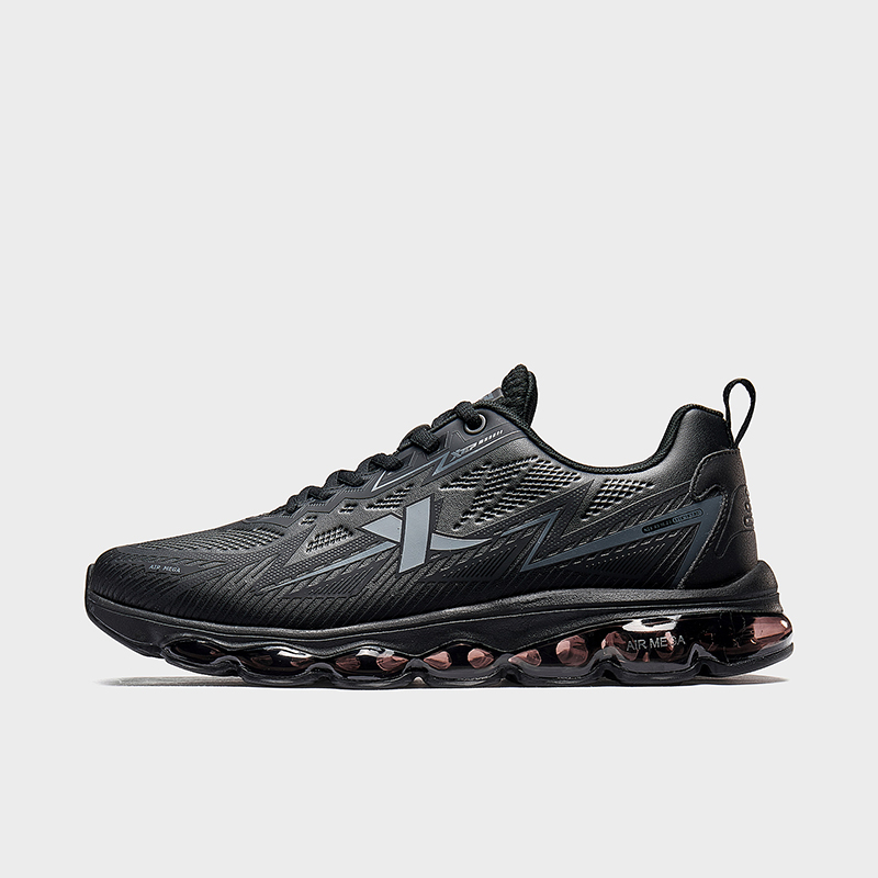 特步 男子跑鞋 2019秋冬新款全掌气垫减震革面运动跑步鞋881419119659