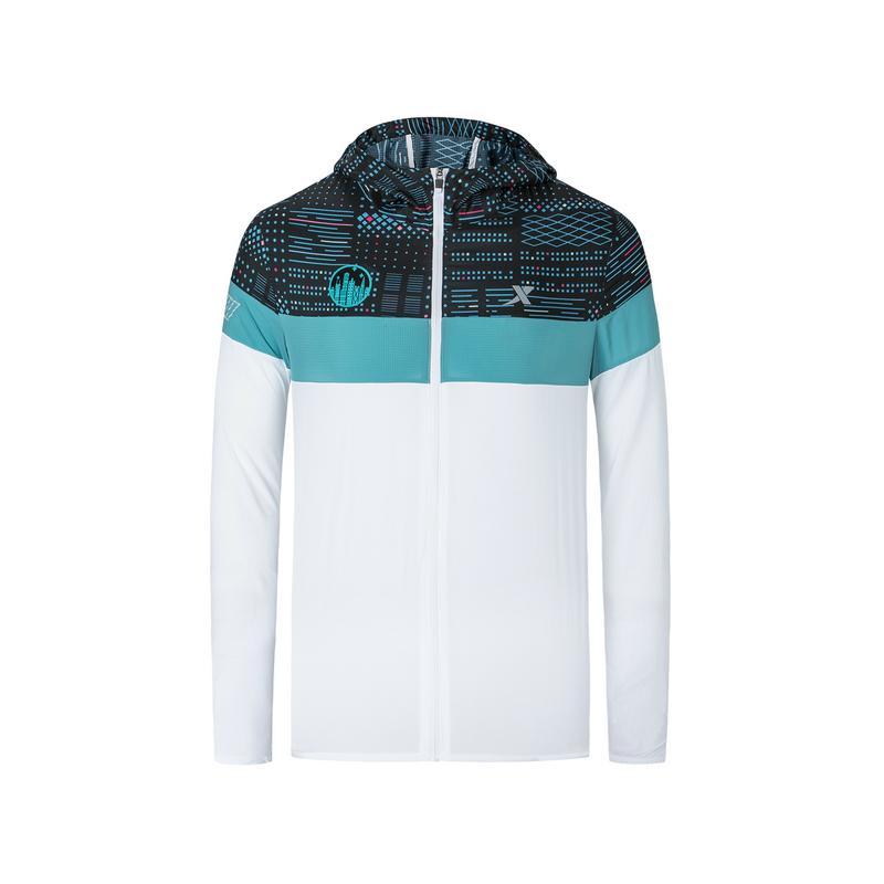 特步 专柜款 男子单风衣 2019秋季新款运动休闲马拉松拉链单风衣981329140586