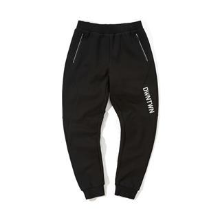特步 专柜款 男子冬季都市简约时尚百搭拉链口袋针织长裤981429630043