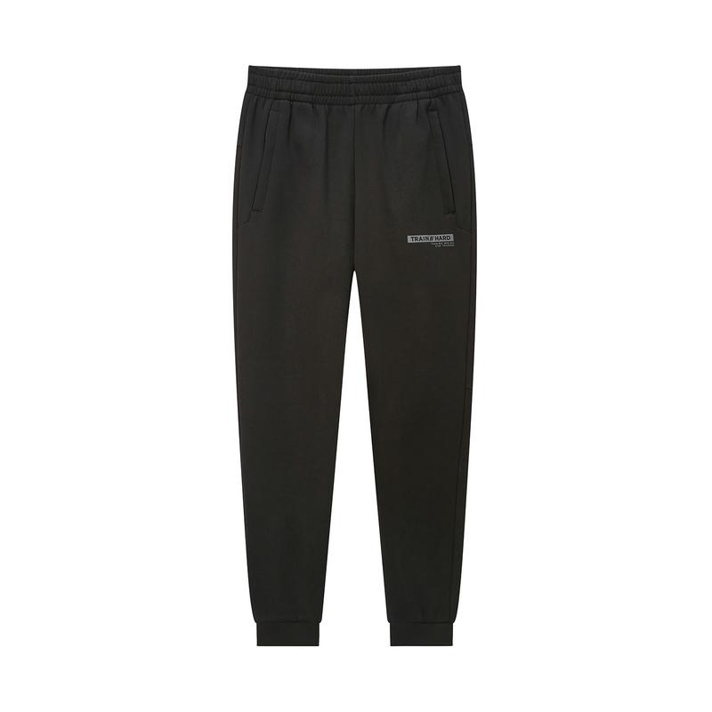 特步 专柜款 男子冬季都市时尚加绒保暖针织长裤981429630220