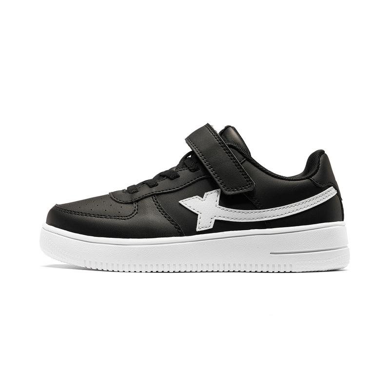特步 男童板鞋 19新款中大童儿童休闲小白鞋681415319361