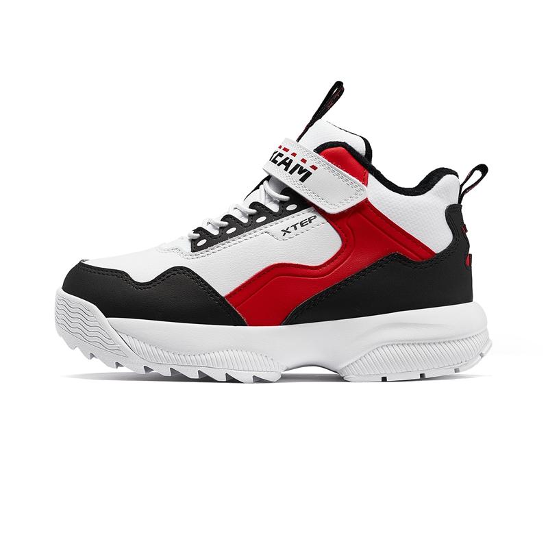 特步 男童棉鞋 19新款中大童儿童时尚老爹鞋681415379508