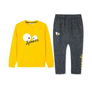 特步 男女童长袖针织套装 中小童儿童卫衣长裤两件套681426349251