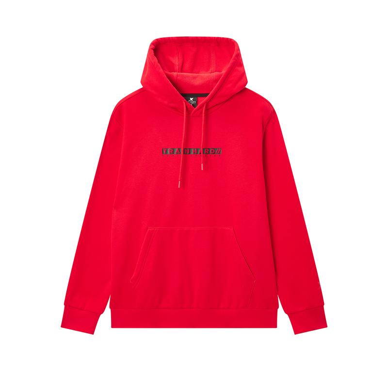 特步 专柜款 男子冬季综训运动简约时尚套头连帽卫衣981429930193