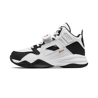 特步 男童篮球鞋 中大童儿童冬季保暖防滑耐磨运动球鞋681415129112