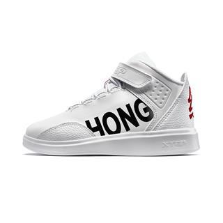 特步 【红包鞋】男童冬季棉鞋 中大童儿童保暖舒适高帮魔术贴棉鞋681415379510