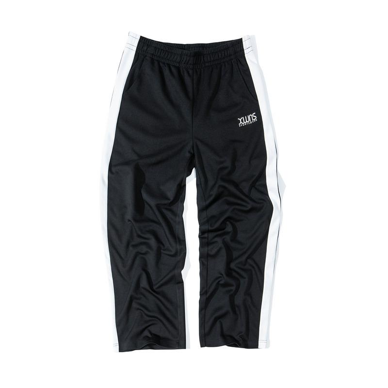 特步 女子针织长裤 19新款喇叭宽松条纹运动裤881328639306