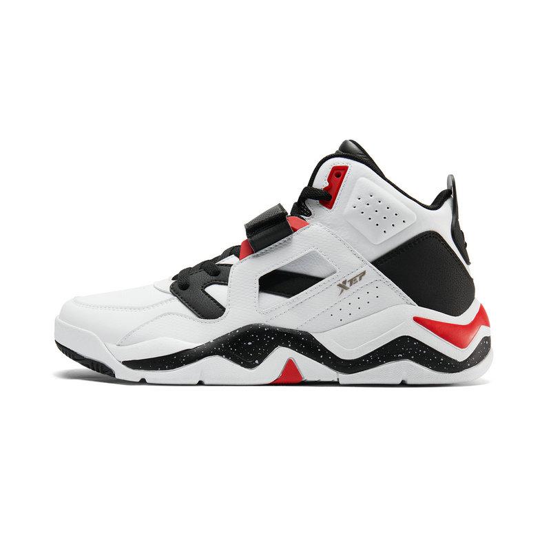 特步 男子篮球鞋 19新款时尚高帮魔术贴街头运动鞋881419129516