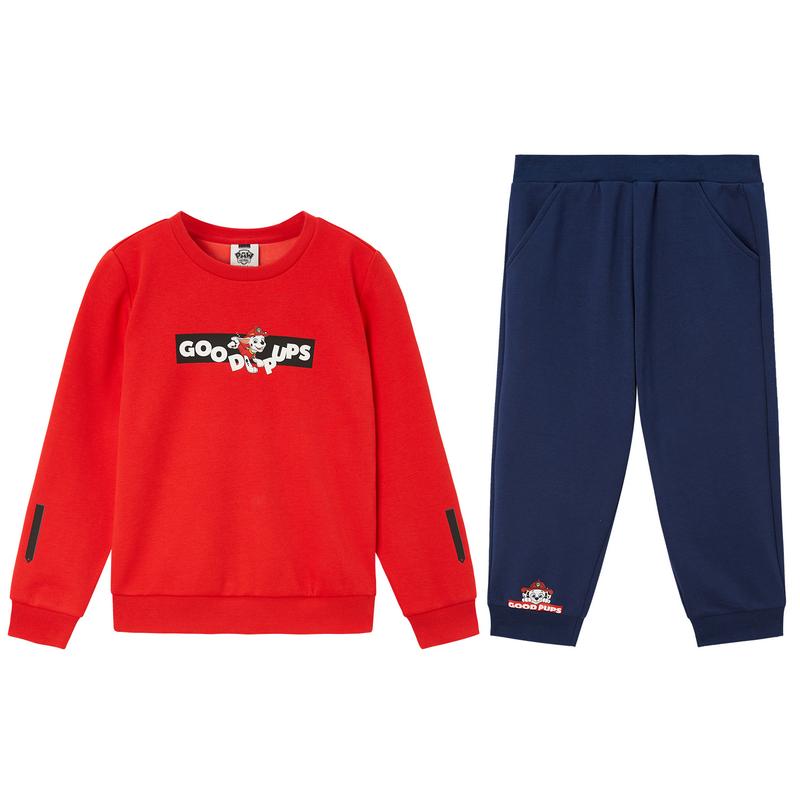 特步 男童套装 2019秋季童装男童套装儿童小幼童针织套装两件套681425349276
