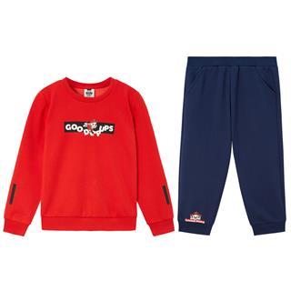 特步 男童套装 童装男童套装儿童小幼童针织套装两件套681425349276