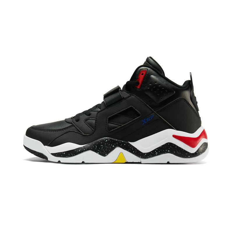 特步 男子篮球鞋 时尚高帮魔术贴街头运动鞋881419129516