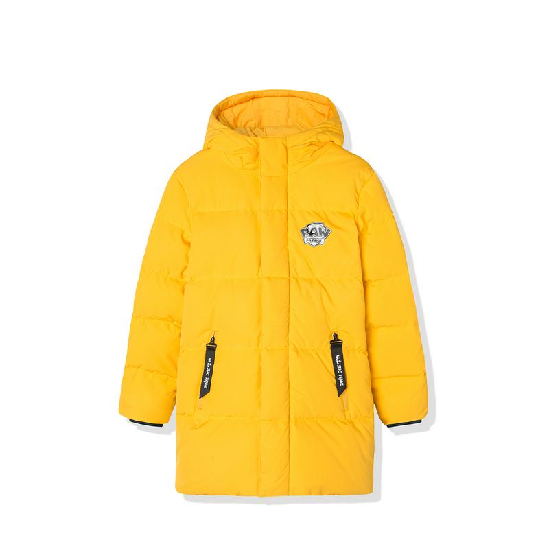 特步 儿童冬季长款羽绒服 男女小童保暖连帽羽绒681426199242