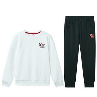 特步 男女童卫衣套装 中大童冬季时尚加绒保暖套装681426349316